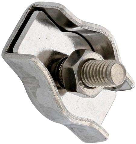 Зажим для троса Simplex, нержавеющая сталь А4